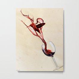 Hummingbird Blood Metal Print
