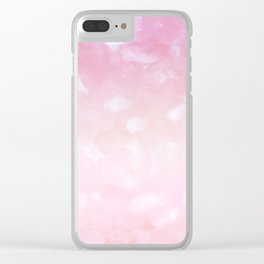 Touching Pink Coral Abstract Painting #1 #ink #decor #art #society6 Clear iPhone Case