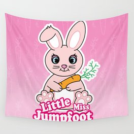 Little Miss Jumpfoot Wall Tapestry