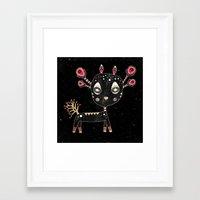 fawn Framed Art Prints featuring Fawn by Elisabeth Fredriksson