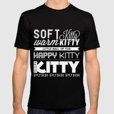 Soft Kitty SMALL Black Mens Fitted Tee