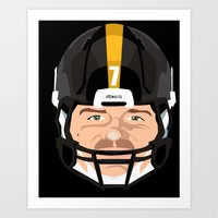 steelers Art Prints featuring Faces- Pittsburgh by IllSports