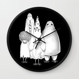 Sheet Ghost Party Wall Clock