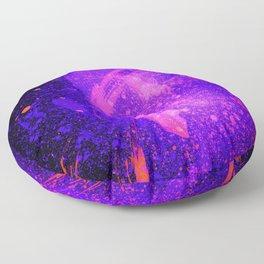 Vivid Violet Purple Abstract Splatter Painting Floor Pillow