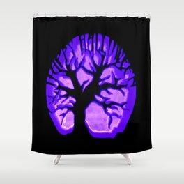 Happy HaLLoWeen. Brain Tree : Purple Shower Curtain