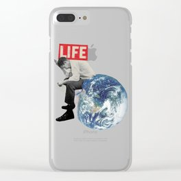 The weight of life Clear iPhone Case