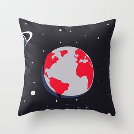 Space hand Throw Pillow