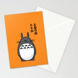 Totoro Pop Art - Orange Version Stationery Cards