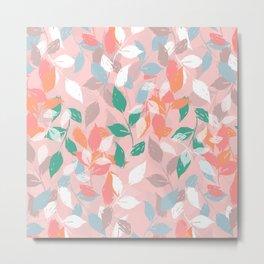 Pretty foliage brush paint design Metal Print
