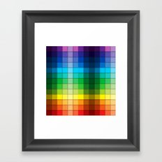 Colourful Squares Framed Art Print