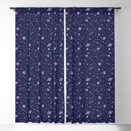 You're Outta this World in Purple Blackout Curtain