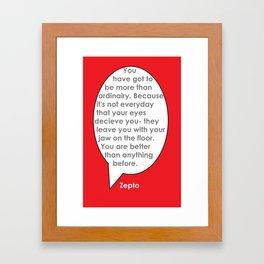 Ordinairy Framed Art Print