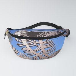 Pine branch blue skies Fanny Pack