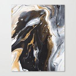 Golden Veined Marble Canvas Print