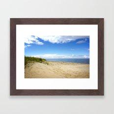 Summer dreams, in the dunes Framed Art Print