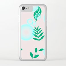 Green leaves with light Clear iPhone Case
