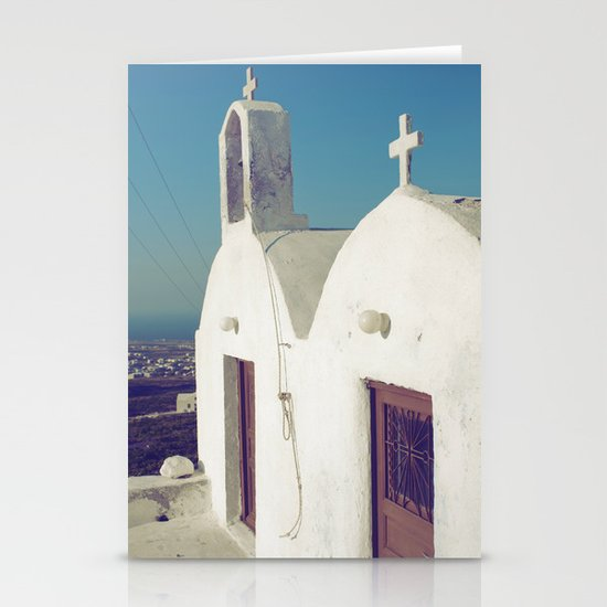 Santorini Churches II Stationery Cards
