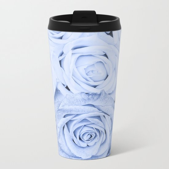 Some people grumble - Blue Rose, Floral Roses Flower Flowers on #Society6 Metal Travel Mug