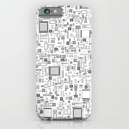 All Tech Line / Highly detailed computer circuit board pattern iPhone Case