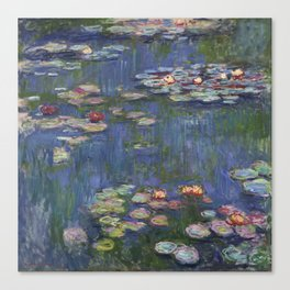 Water Lilies - Claude Monet Canvas Print