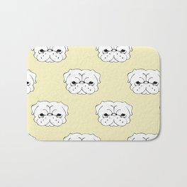 Pug Cringe Face Bath Mat