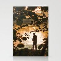 fishing Stationery Cards featuring Fishing by Svetlana Korneliuk