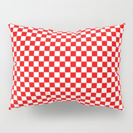 Large Australian Flag Red and White Check Checkerboard Pillow Sham