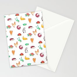 Animal Tiles Stationery Cards