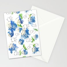 My Neighbour Pattern (White)  Stationery Cards