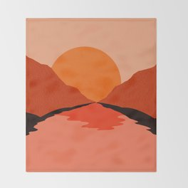 Abstraction_Sunset_Mountains_001 Throw Blanket