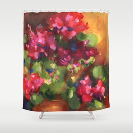 Geranium Reds Shower Curtain