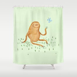 Sloth & Butterfly Shower Curtain