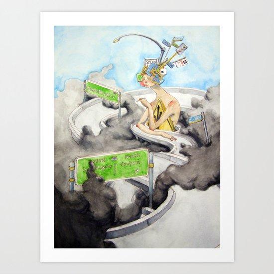 The Alluring Annoyance of...Transit Art Print
