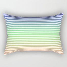 Beach Blanket - Tricolor Rectangular Pillow