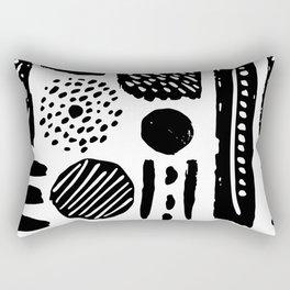 Abstract Hand Drawn Patterns No.3 Rectangular Pillow