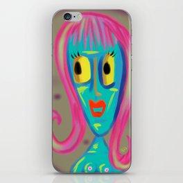 blue nude iPhone Skin
