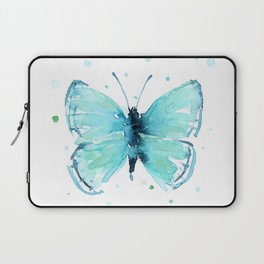 Blue Abstract Butterfly Laptop Sleeve