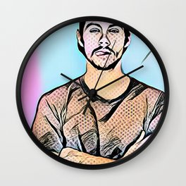 Dylan O'Brien pop art Wall Clock