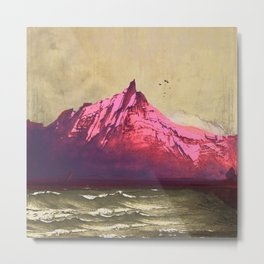 Sea.Mountains.Light . i. Metal Print
