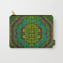 Butterfly flower jungle and full of leaves everywhere Carry-All Pouch
