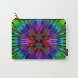abstract glitch 3d flower Carry-All Pouch