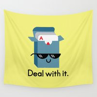 meme Wall Tapestries featuring Talk to the Hand by David Olenick