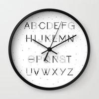 font Wall Clocks featuring Craft Font by neuprouns