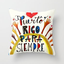 Puerto Rico Para Siempre Throw Pillow