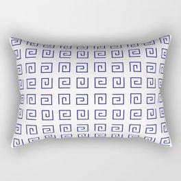 Antic pattern 21- roman or greek pattern - blue Rectangular Pillow