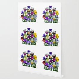 Iris garden Wallpaper