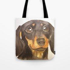 Dachshund portrait (Commissioned portrait - original sold) Tote Bag