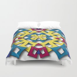 abstract aztec sun Duvet Cover