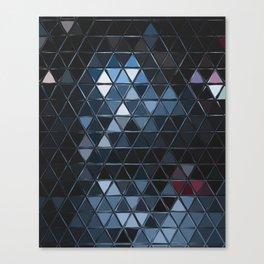 black triangular tiles Canvas Print