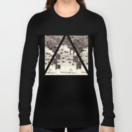 Deconstructed Buildings at Night Long Sleeve T-shirt
